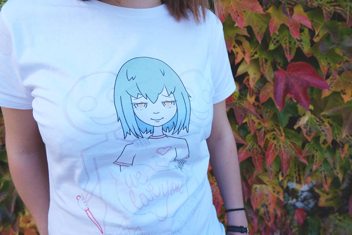We love you tshirt hypocrisy design ecchymose manga