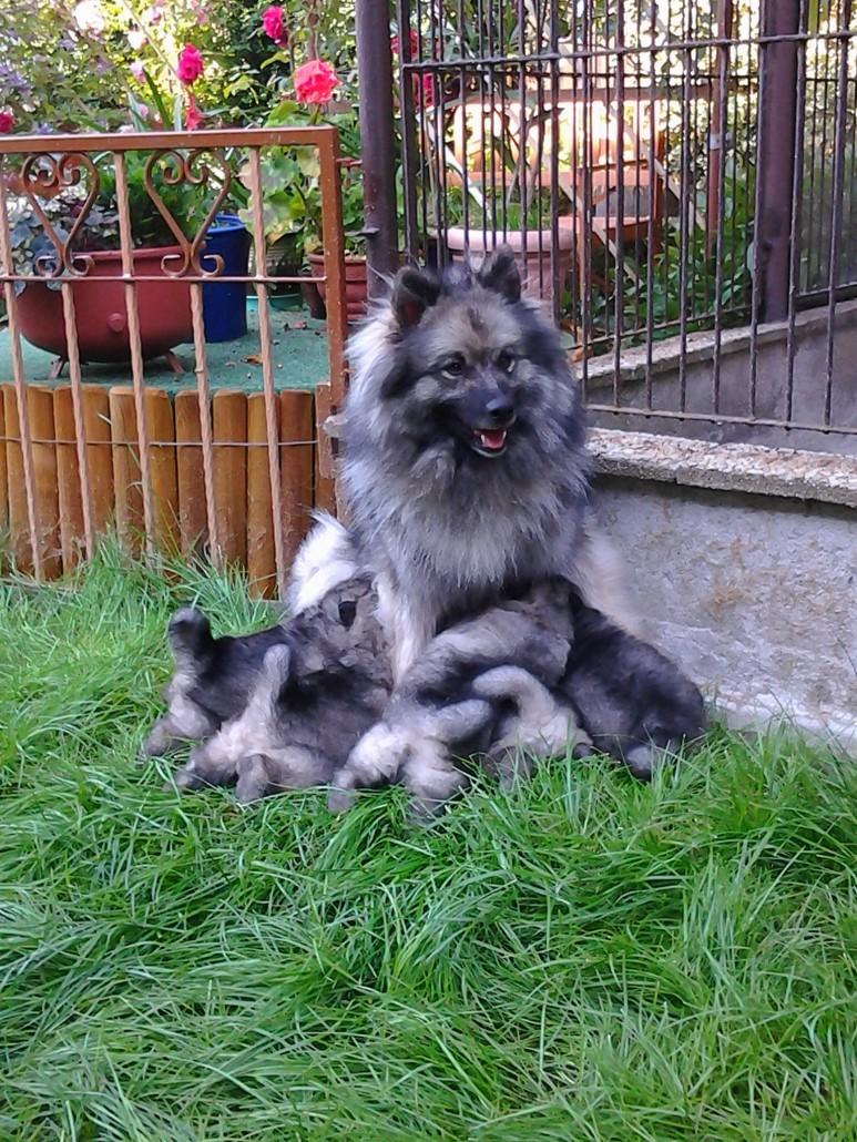 Ricka mit ihren Kindern