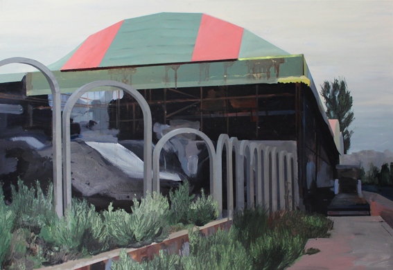 the other tent 2016 70 x 100 oil on cardboard