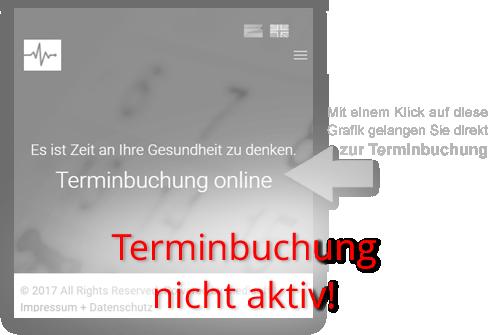 Button zur Online-Terminbuchung - vorübergehend deaktiviert / HNO-PRAXIS IN DEN WALDDÖRFERN Claus-Ferck-Straße 1 A, Hamburg-Volksdorf - HNO-PRAXIS Mönckebergstraße 17, Hamburg-City