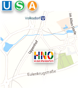 Anfahrt - HNO-Praxis Hamburg-Volksdorf