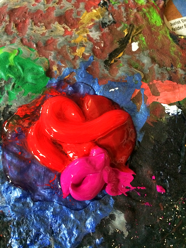 Mixing acryl for the painting