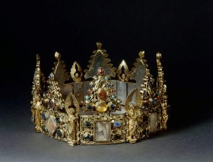Reliekkroon. Ca 1260-1280 met resten van de doornenkroon. (Foto: Ruben de Heer, CC)