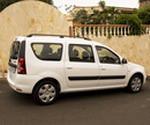 Mietauto mit 7 Sitzplätzen in der Vermietung.