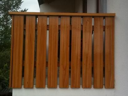 Holzaufhellung, Pinselmasierierung, hoher UV-Schutz mit High-Solid-Bindemittel
