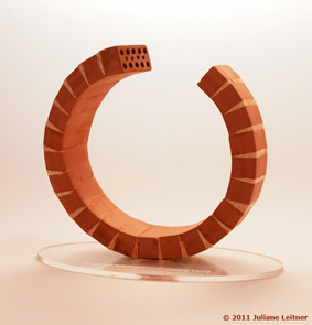 Trophy created for ABARA 'austrian brick and roof award'; may 2011 © Juliane Leitner