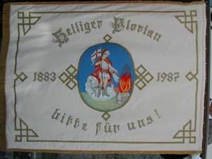 Fahne der FF Reichenau seit 1924 (renoviert 1987)