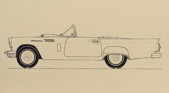 FORD THUNDERBIRD 1955 physionomic study