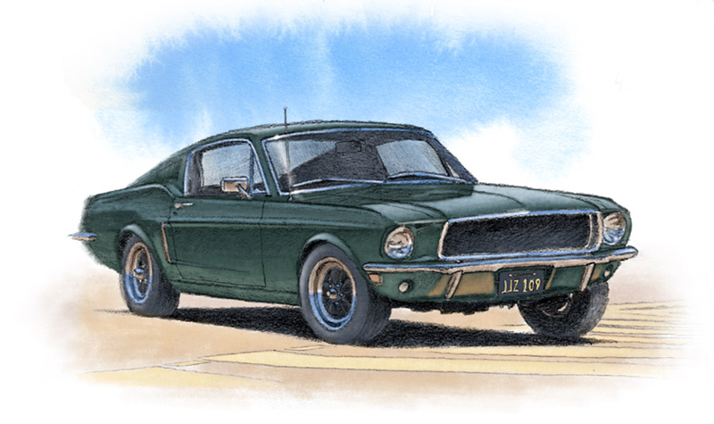 Mustang GT 1968 from the movie Bullitt