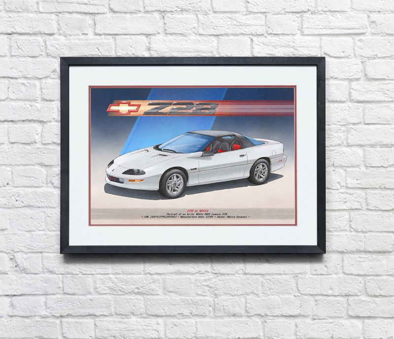 THE ART OF FRAMING A DECORATIVE ARTWORK - AUTOMOTIVE ART BY LEMIREART