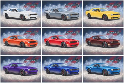Quelques unes des couleurs de carrosseries offertes