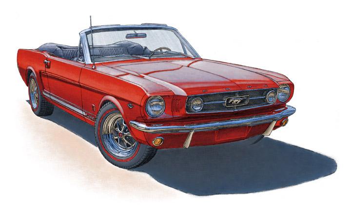 Mustang GT convertible 1965