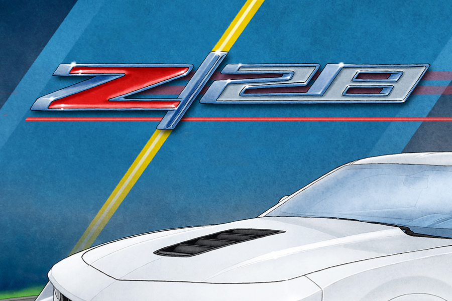 The Z28 emblem is also nicely drawn for a more realist look