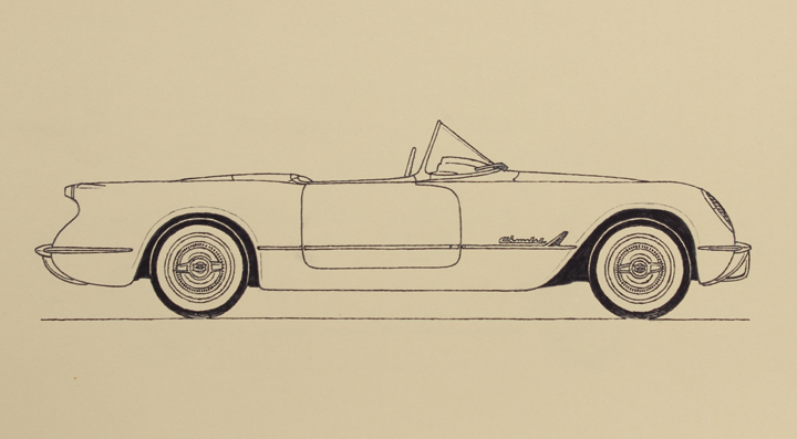 CHEVROLET CORVETTE 1953 physionomic study