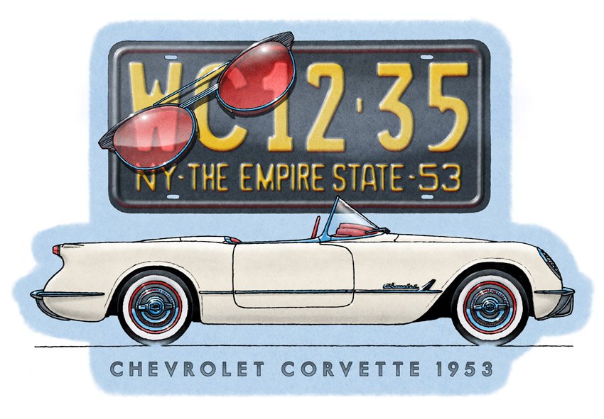 Corvette 1953 montage