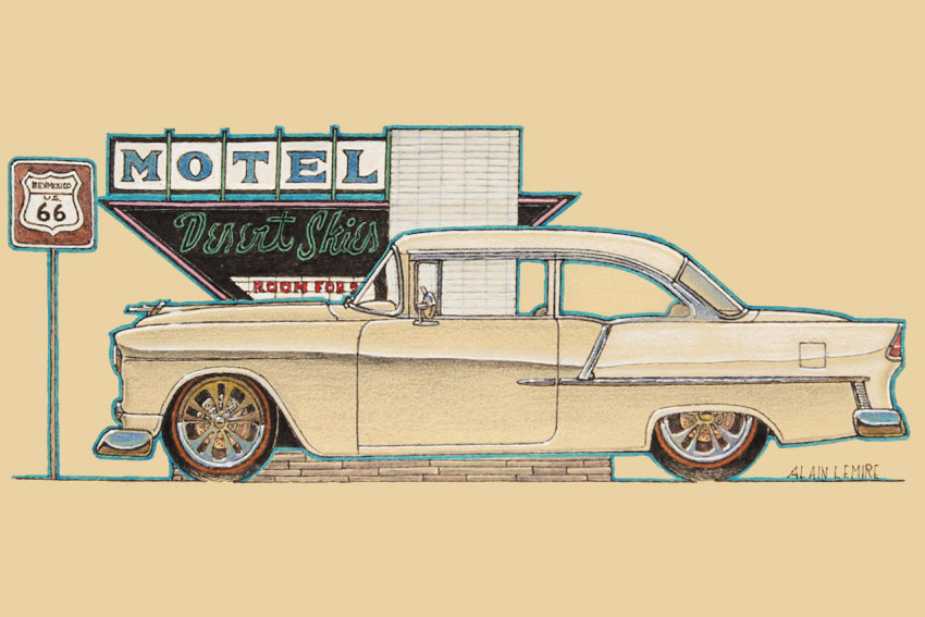 Custom Chevrolet Belair 1955 sketch