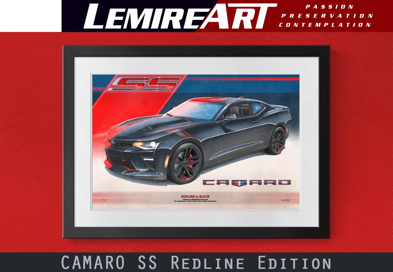Camaro Ss Redline Edition Automotive Art By Lemireart