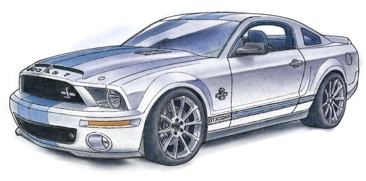 SHELBY GT500KR 2008