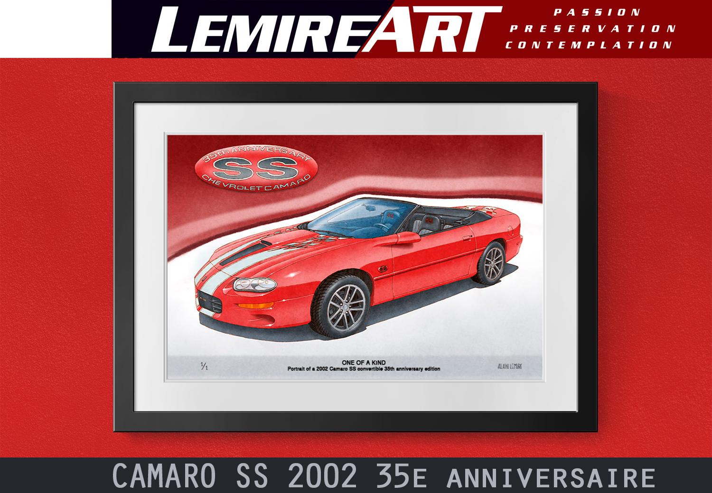 2002 Camaro SS 35th anniversary convertible art print