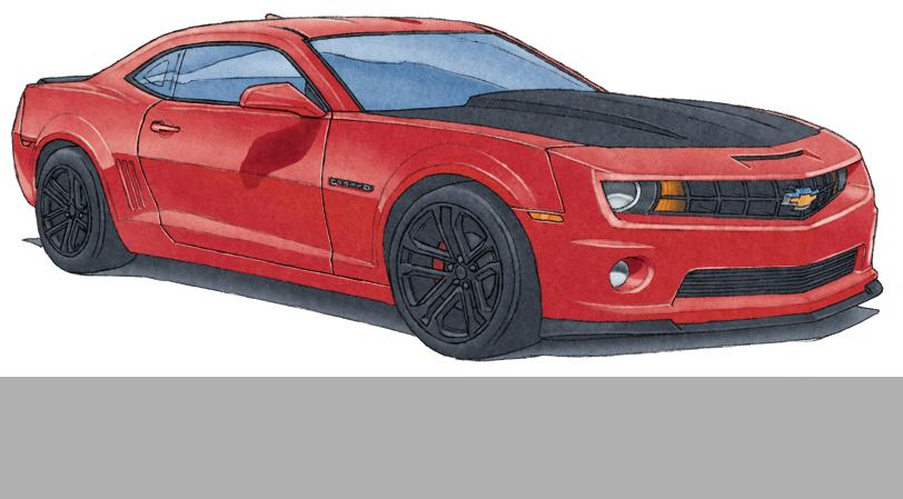 3.1- Toutes les couleurs de la palette de couleur de la Camaro peuvent être illustrée