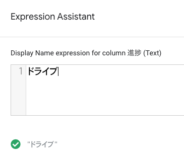 Expression Assistant に入力する。
