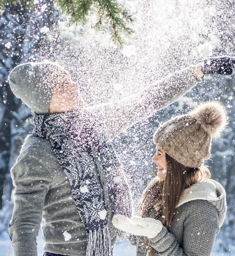 Träumen wir einfach vom Schnee. Coverbild zu: Sei mein Winter-Engel. Foto: Fotolia/de.fotolia.com von maryviolet