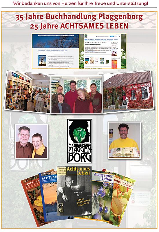 35 Jahre Buchhandlung Plaggenborg und 25 Jahre Achtsames Leben