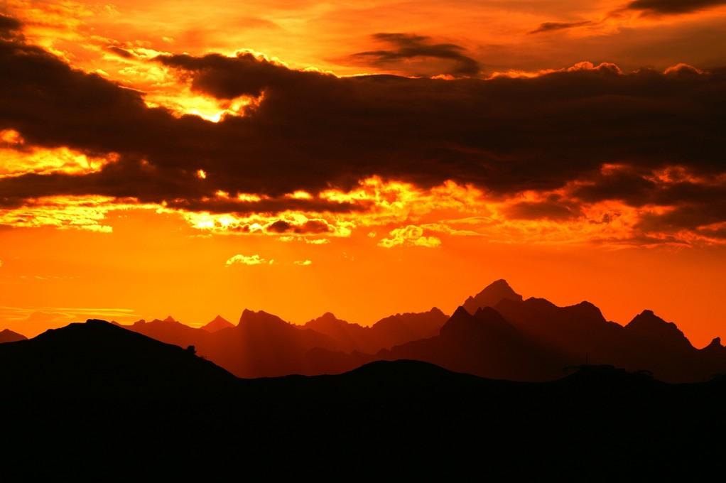 Sonnenaufgang vom Hahnenköpfle