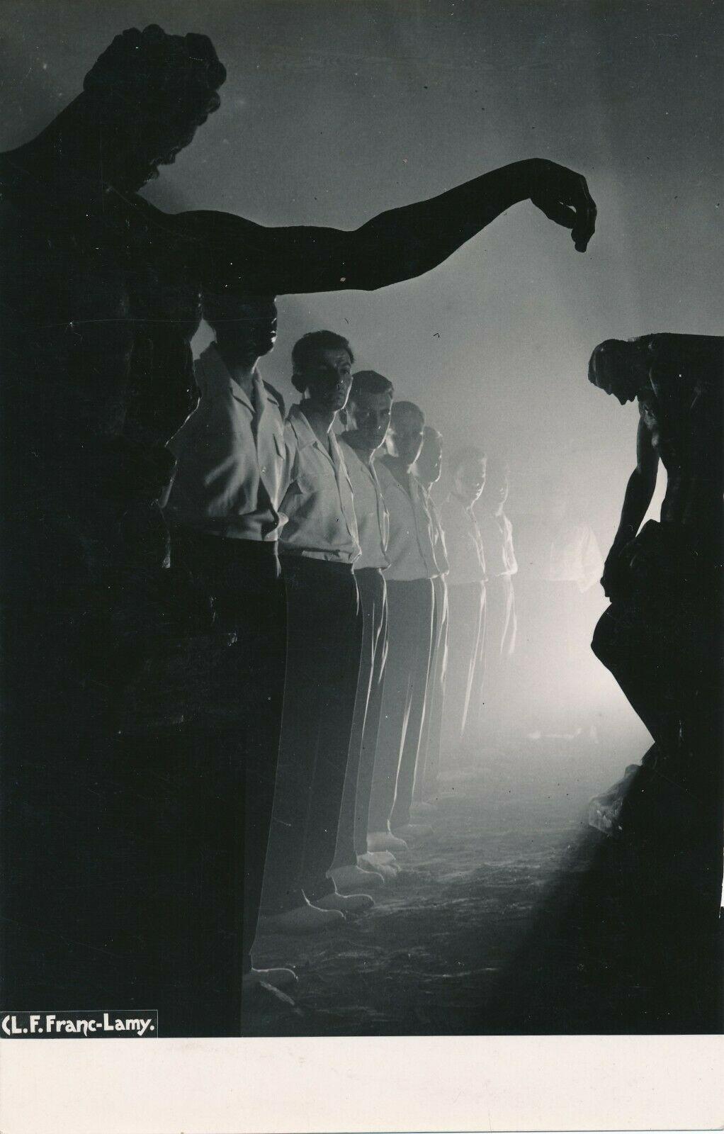 Chanteurs par le photographe L. F. Lamy