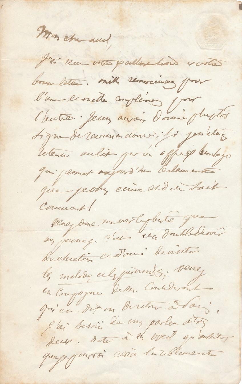 Félix PYAT lettre autographe signée