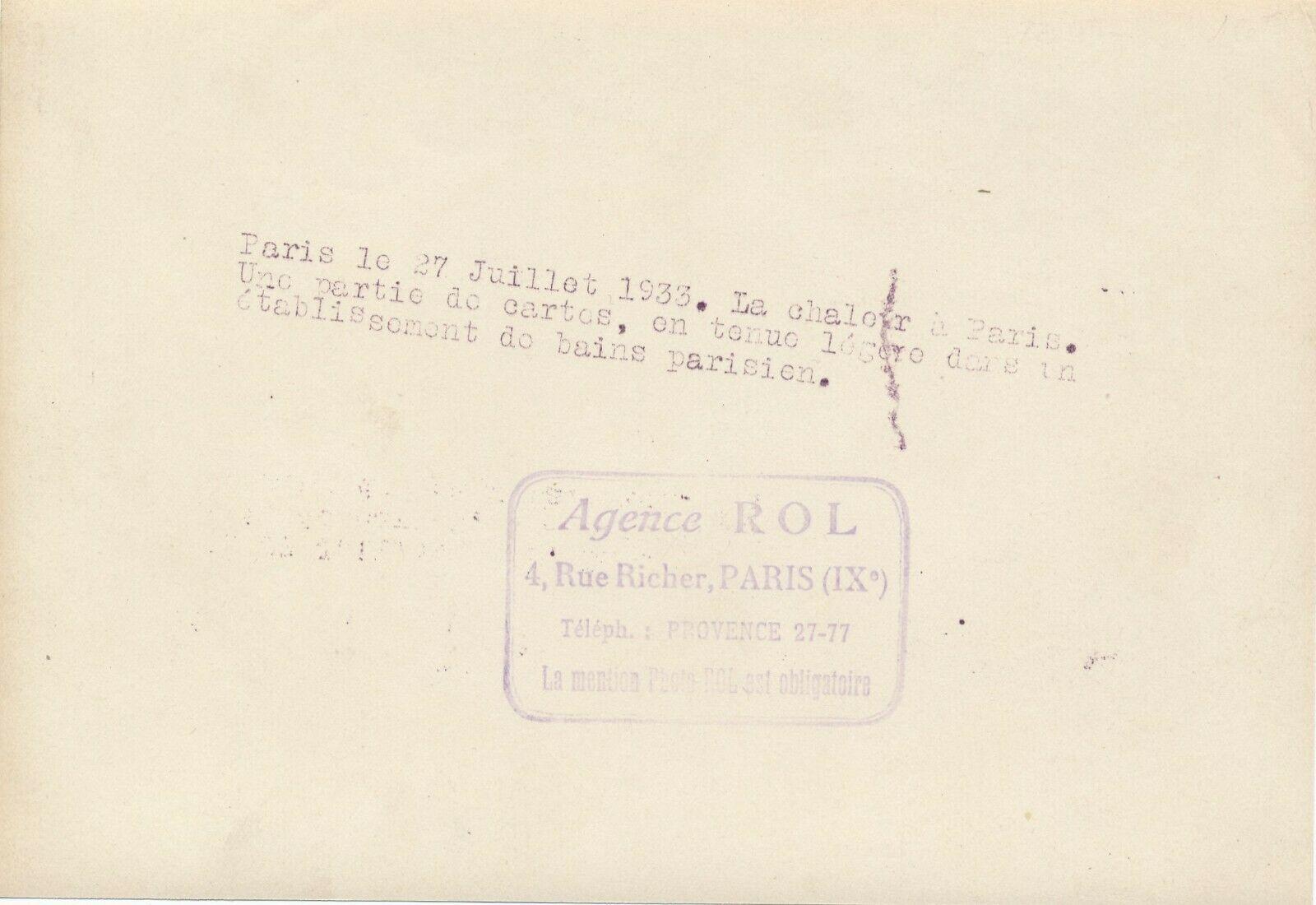 Chaleur à Paris, 1933