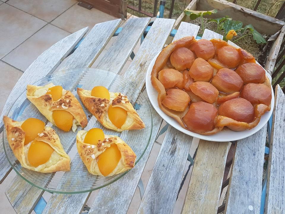 Chaussons aux abricots et Tarte Tatin
