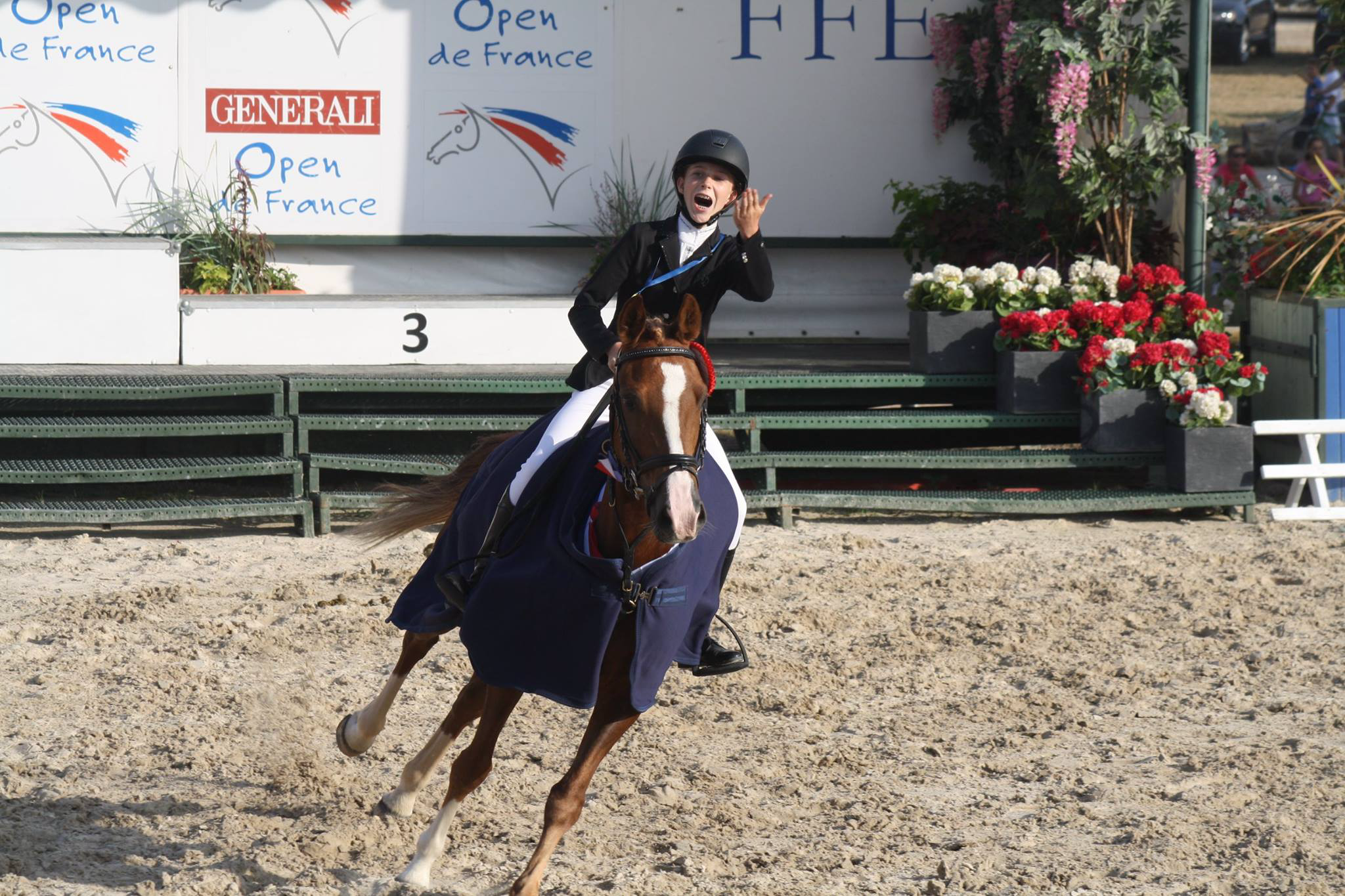 Anastasia et Maestro des Charmes (poney de club) Champion de France 2015