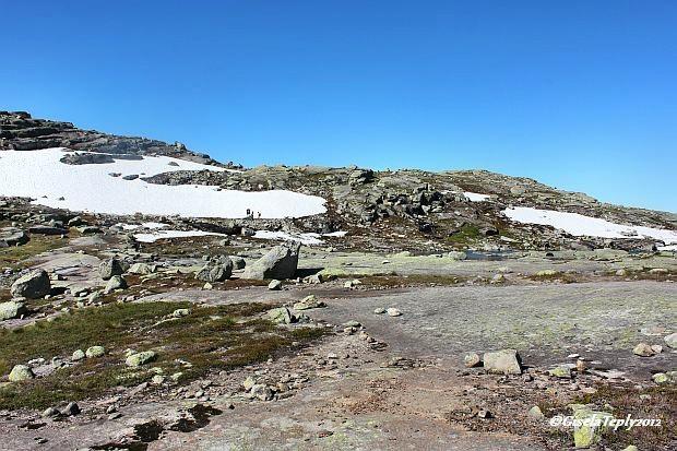 Schneereste vom letzten Winter Anfang August 2012