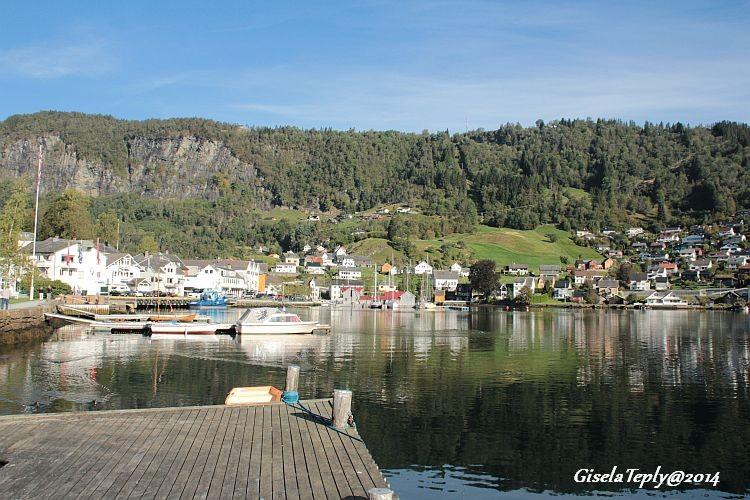 Blick auf einen Teil von Norheimsund..