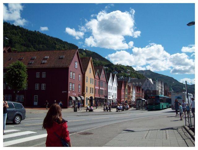 Blick auf Bryggen oder auch Tyske Bryggen..