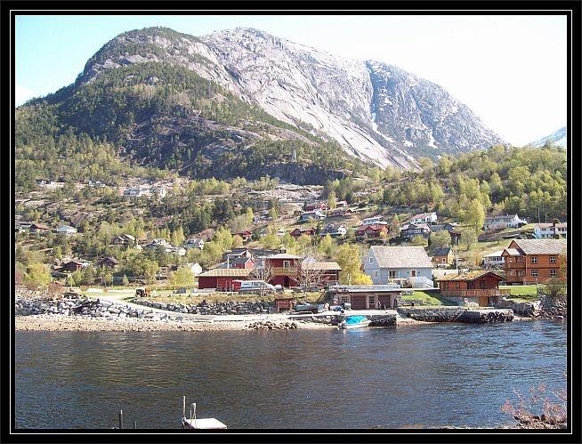 Ein Teil des Ortes Eidfjord