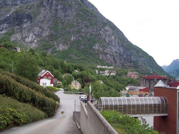Blick auf Tveitahaugen in Tyssedal