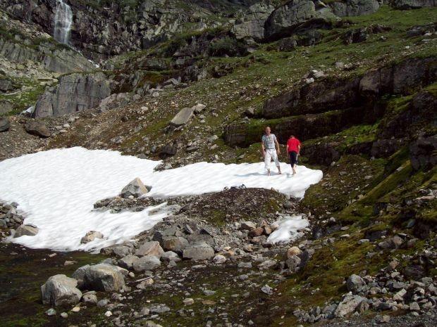 der letzte Schnee ein tolles Erlebniss fuer meinen Mann und unserem Sohn