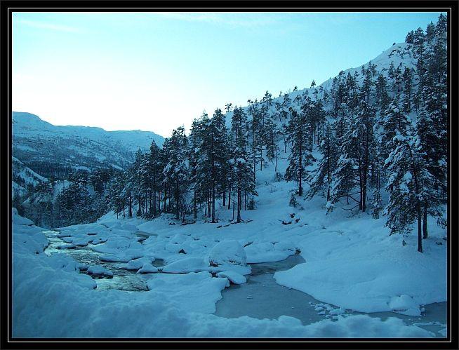 Winterwunderland im Rullestadjuvet..