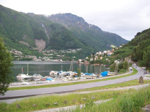 kleiner Jachthafen in Odda...