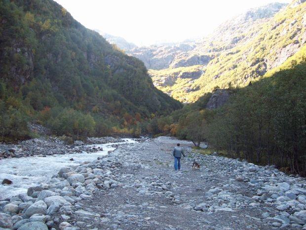 entlang des Gletscherbaches oberhalb von Buer...