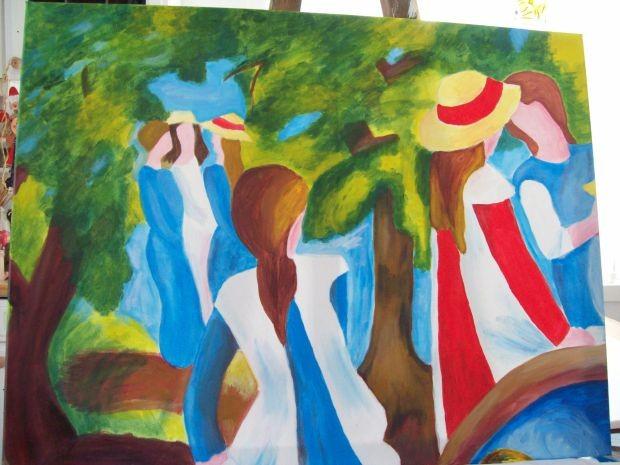 Ein Geschenk fuer eine gute Freundin (Bild nach Matisse)