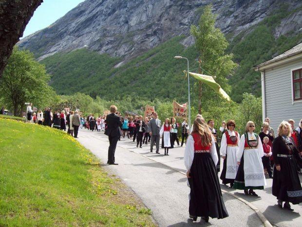 Festumzug in Tyssedal/ Hordaland