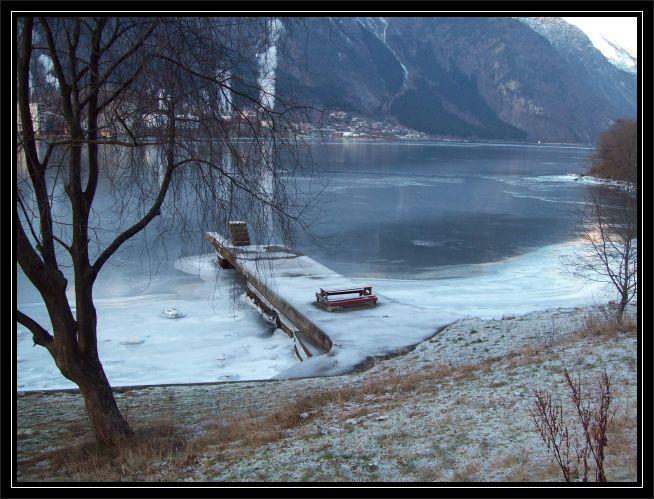 das kleine Freibad am Sørfjord zwischen Odda und Tyssedal...