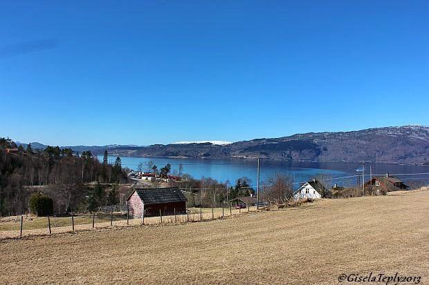 Blick auf den Hardangerfjord