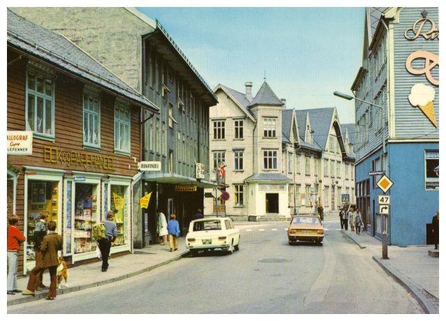 Postkartenansicht von Odda aus den 1960/70 Jahren