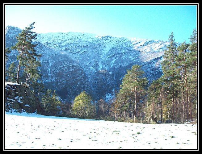 Blick auf den ersten Schnee