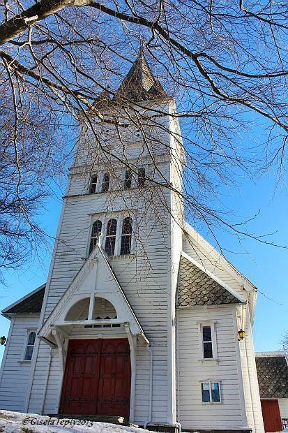 Kirche in Utne..