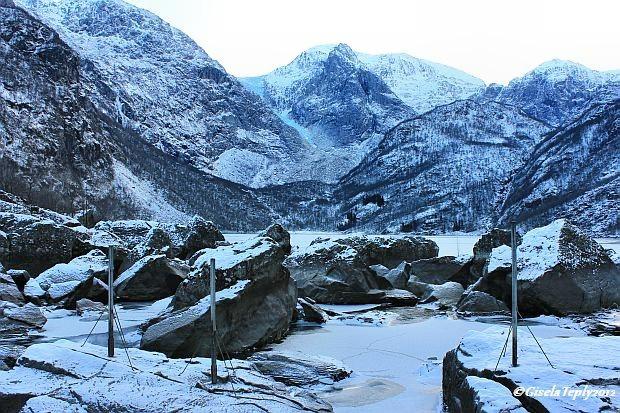 Winterlicher Bondhusvatnet im Dezember 2012